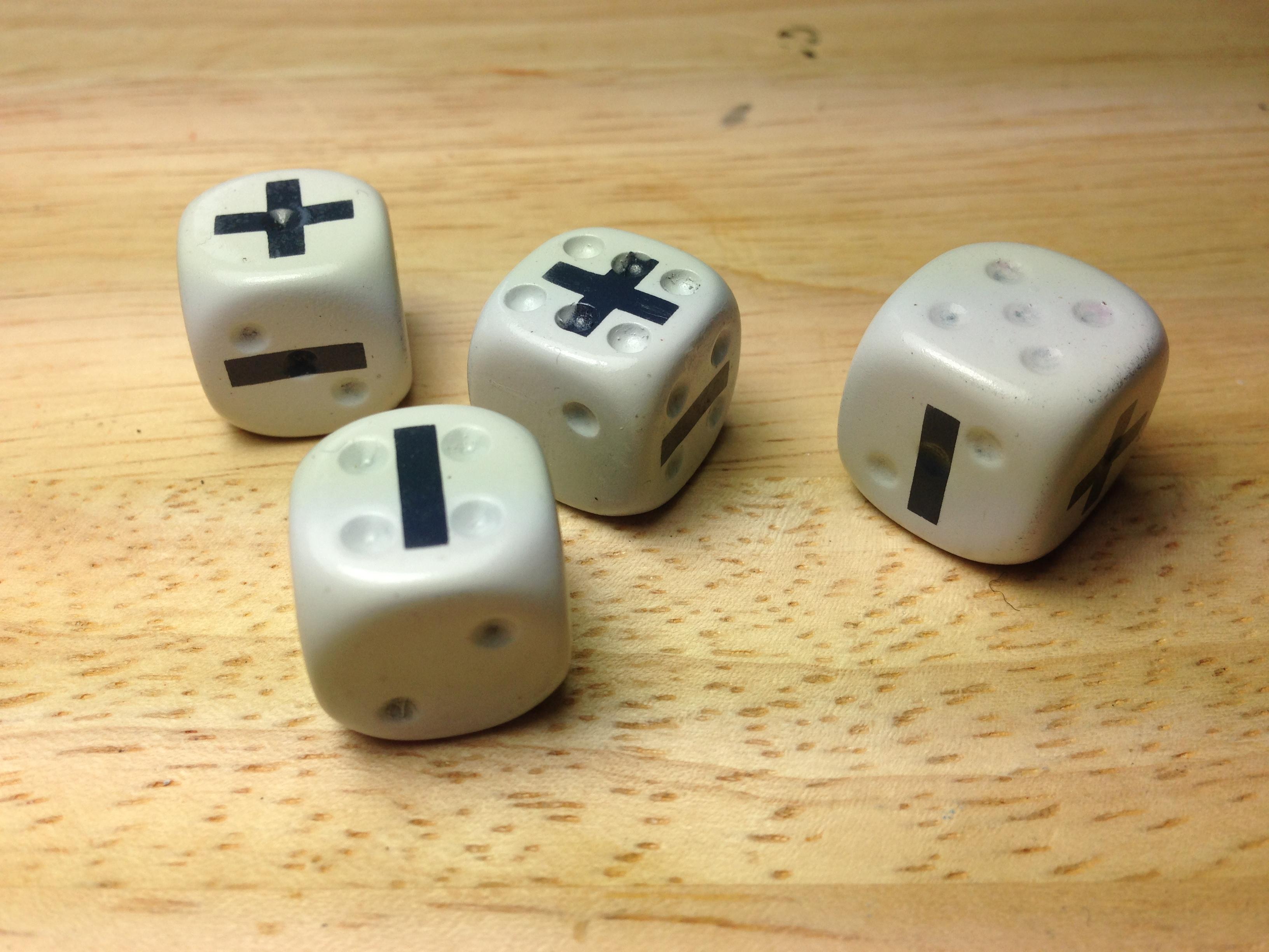 airbrushed fudge dice
